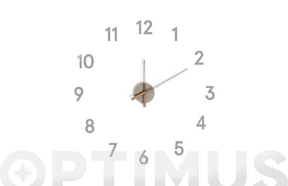 Reloj de pared adhesivo numeros momentum gris