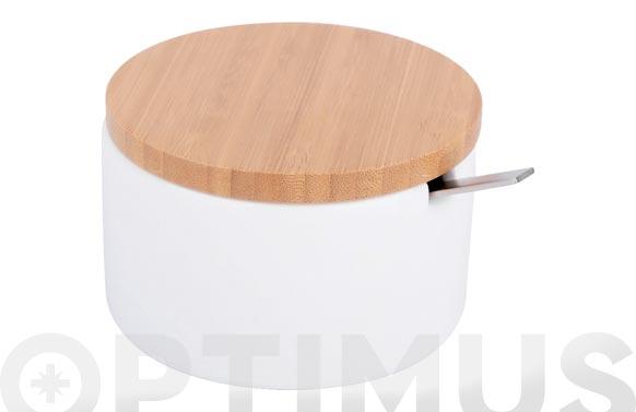 Azucarero ceramica bambu blanco