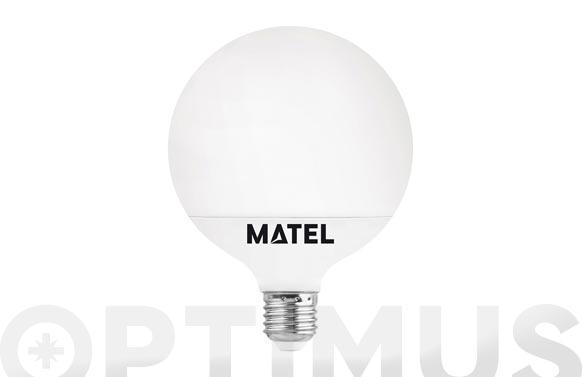 Lampara led globo 120 mm e27 18 w luz calida