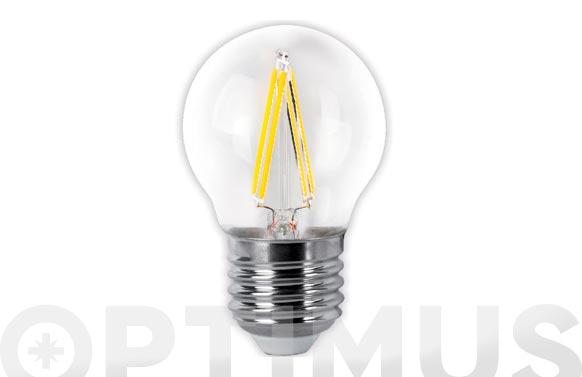Lampara led filamento esferica clara 4w e27 luz fria