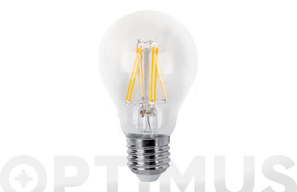 Bombilla led filamento estandar flama clara 6w e27 luz calida