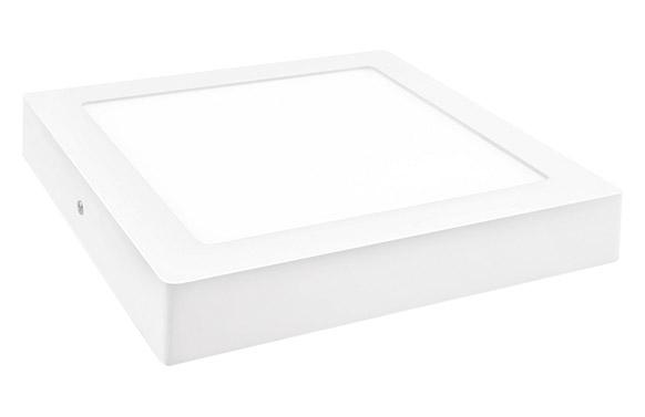 Downlight led superficie cuadrado blanco 18 w 1800 lm fria (6000k)