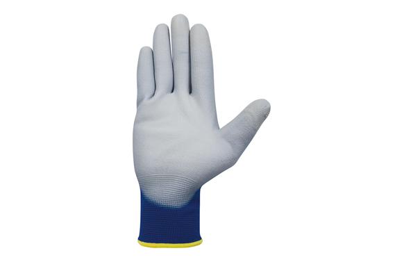Guante pantalla tactil smart tip pu t 7 azul/gris