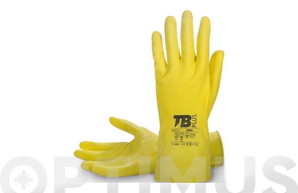 Guante latex amarillo flocado t 7/m, grosor: 0,45 mm, longitud: 30 cm