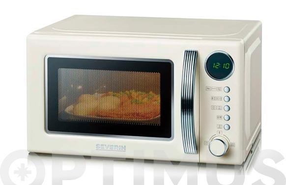 Horno microondas con grill 20 l crema