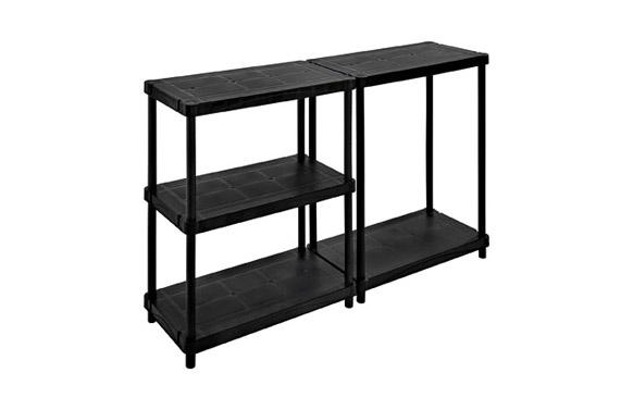 Estanteria resina negra modelo 4080/5c 5 baldas 90 x 187 x 45 cm