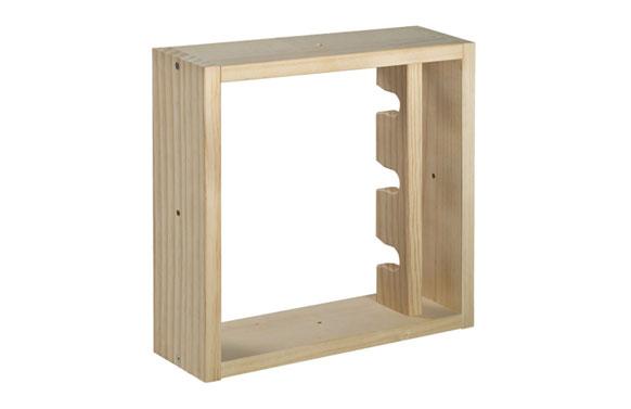 Botellero de pino pixel 3 40 x 40 x 12 cm