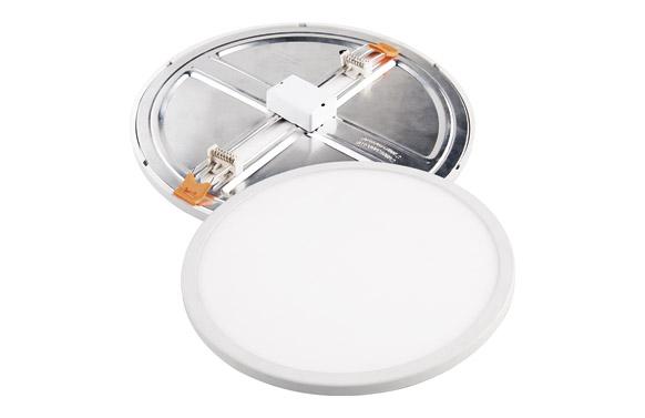 Downlight led ajustable blanco redondo 18 w 2000 lm fria (6400k)