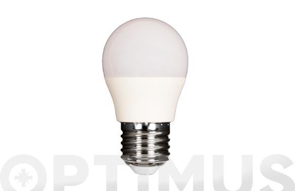 Lampara led esferica 480lm e27 6w fria