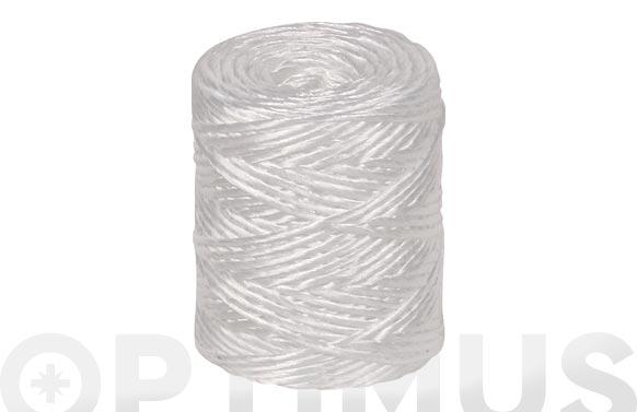 Hilo rafia polipropileno 1 cabo 600 m/kg ø 1,7 mm 700 grs blanco