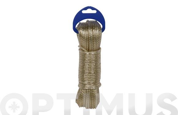 Cable acero plastificado oro ø 3,5mm 20 mt