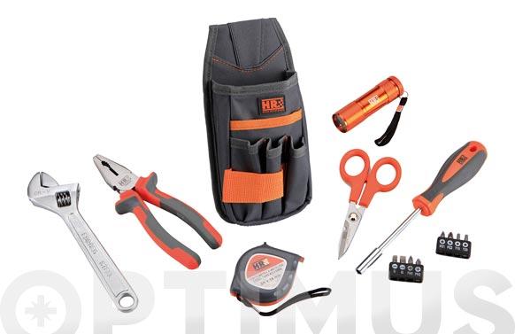 Bolsa nilon para cinturon con herramientas 15 pzs