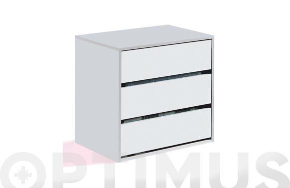 Cajonera interior blanca 3 cajones 60 x 57 x 44 cm