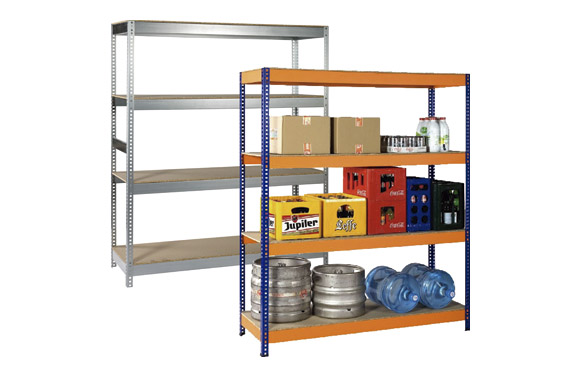 Estanteria metalica galvanizada , 4 estantes 180 x 150 x 50 cm
