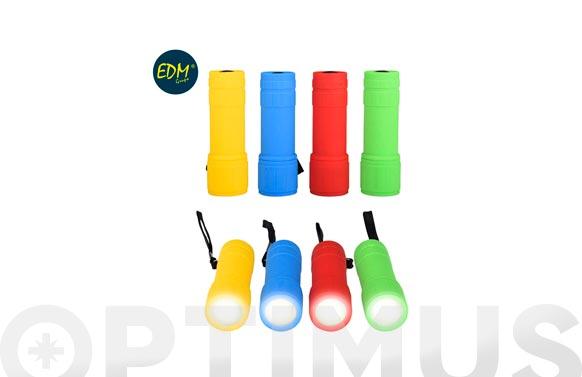 Mini linterna led 3w 90 lm 3xaaa incluidas