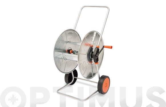Carro portamanguera acero cincado 110 mt 1/2  (no incluida)