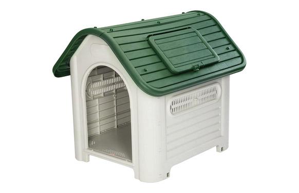 Caseta resina para perro beige/verde dakota 72 x 87 x h75