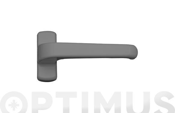 Manilla puerta aluminio (juego) 6800 plata