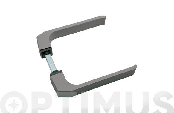 Manilla puerta aluminio (juego) 702 plata