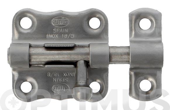 Cerrojo pasador mod.384 30x33 mm acero inoxidable 18/8