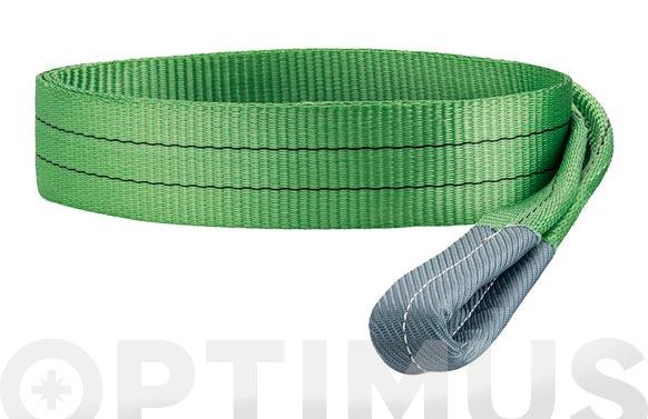 Eslinga plana doble 2 tn 60 mm/3 m verde