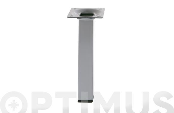 Pata para mesa cuadrada modelo 3 acero plata 25 x 25 x 700 mm