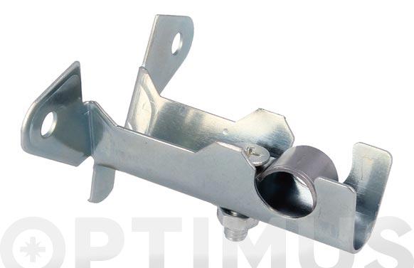 Soporte tubo cortina frontal cromado 2 uds 60 x 67 mm modelo 30