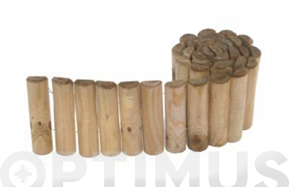 Bordura madera siloux ø 5 x 20 x 180 cm espesor 16 mm