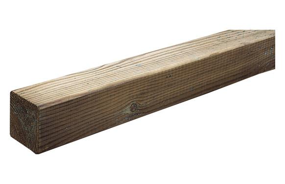 Poste madera cuadrado 7 x 7 x 100 cm