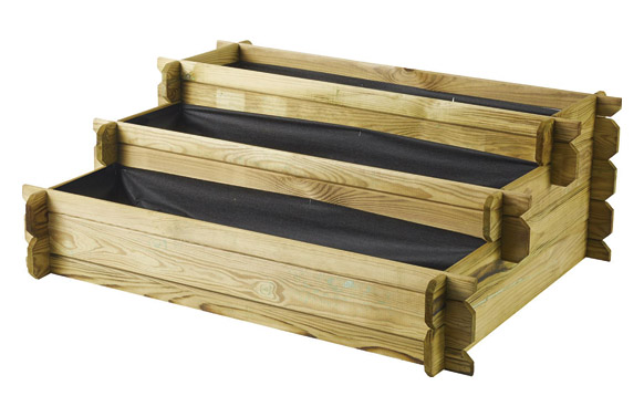 Huerto urbano madera escalera angelic 100 x 80 x h 36 cm