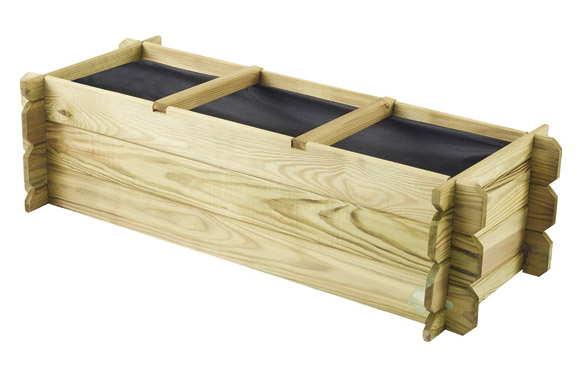 Huerto urbano madera basil 140 x 60 x h 40 cm