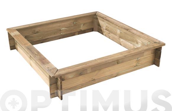 Arenero madera oscar 120 x 120 x 24 cm