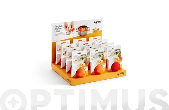 Escalfador de huevos surtido rojo-naranja