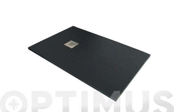Plato de ducha de resina negro 100 x 70 cm