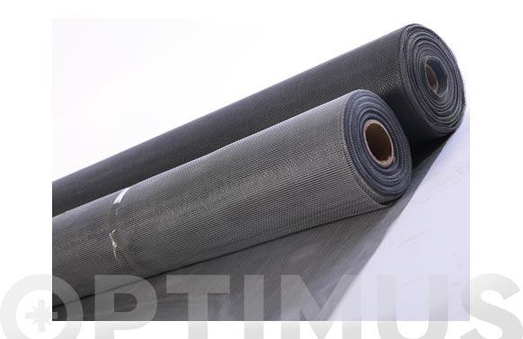 Tela mosquitera fibra vidrio gris 0.80 x 30 mt