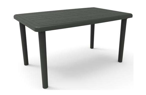 Mesa rectangular olot gris antracita 140 x 90 cm