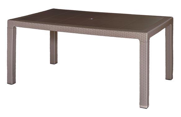 Mesa resina ratan antiinsectos  150 x 90 cm taupe