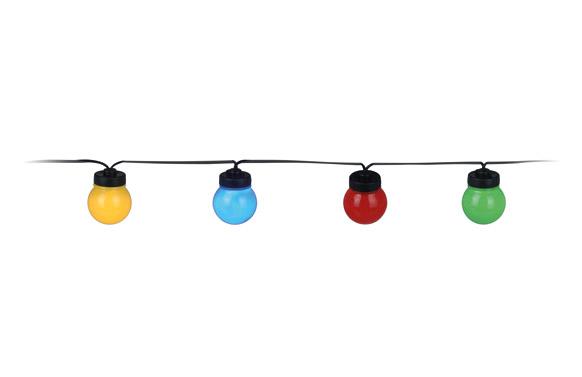 Guirnalda led 20 lamparas ø 5 cm microled luz colores 3m