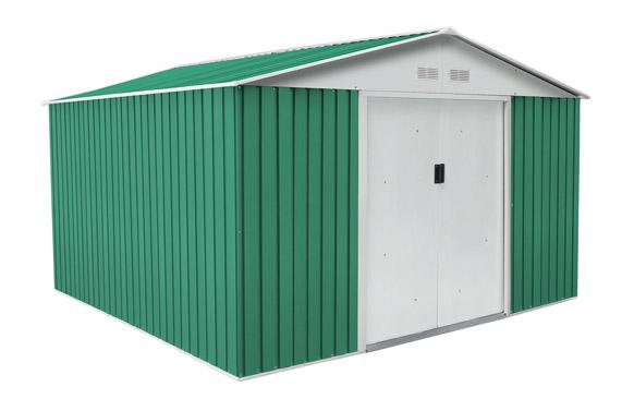 Caseta metalica bedford verde 11,59 m2 a321 x f361 x h205 cm
