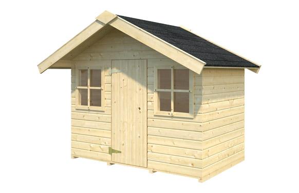 Caseta madera infantil mikkel 1.9 m2 180 x 112 x h 169 cm