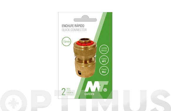 Conector enlace rapido laton con stop ø19 mm