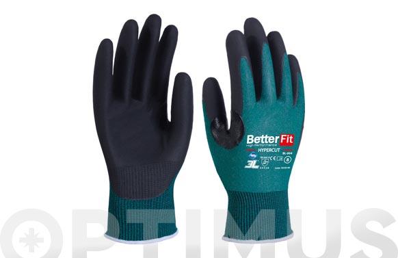 Guante better fit hypercut con refuerzo proteccion t 7 nitrilo en palma