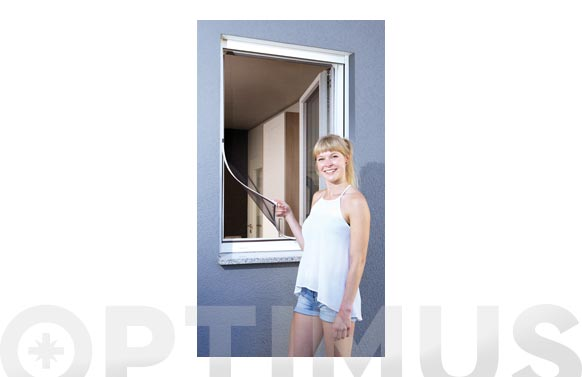 Mosquitera ventana marco flexible magnetico 120 x 120 cm blanco