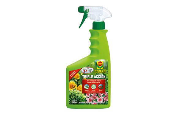 Triple accion insecticida + fungicida + acaricida  pistola 750 ml