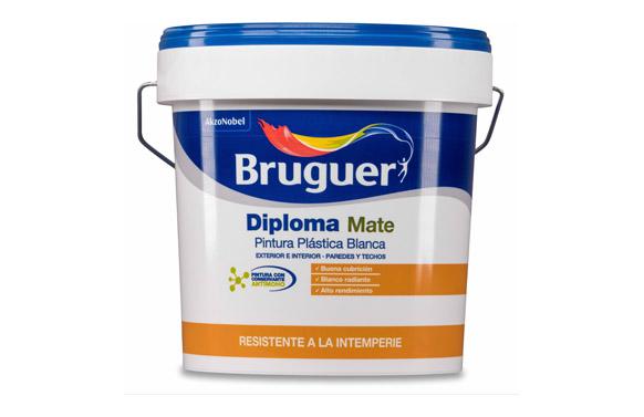 Pintura plastica exterior diploma blanco mate 4 l