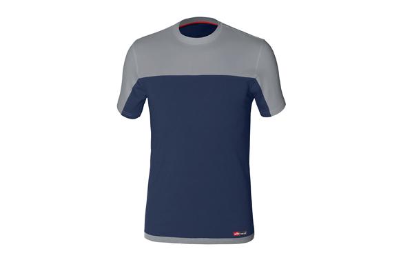 Camiseta stretch bicolor azul-gris t. xl