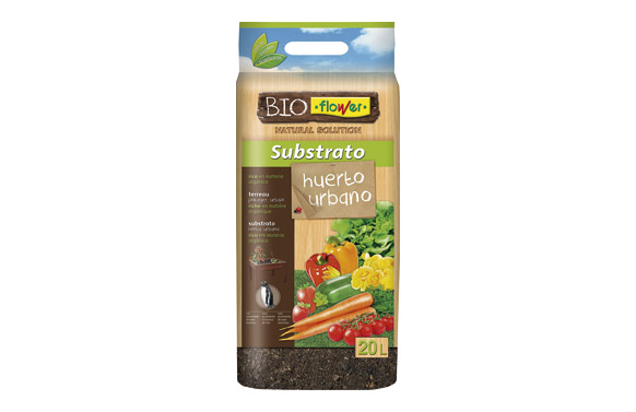 Substrato para huerto urbano bioflower 20 litros