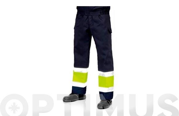 Pantalon alta visibilidad tergal 225 grs t 52 azul marino