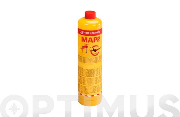 Cartucho gas con valvula 750 ml mapp gas 7/16
