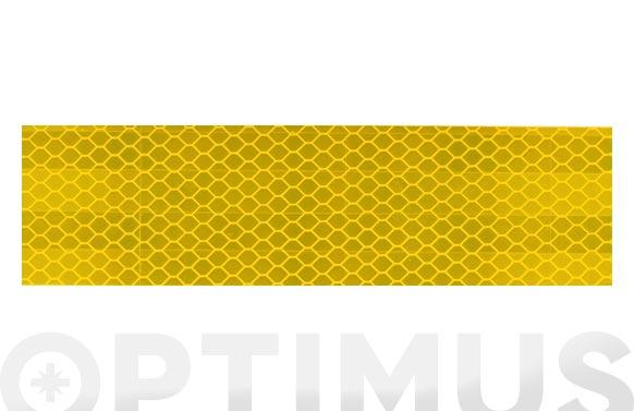 Cinta adhesiva reflectante automocion homologada 25 m x 50 mm amarilla